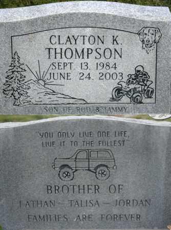 THOMPSON, CLAYTON K. - Box Elder County, Utah | CLAYTON K. THOMPSON - Utah Gravestone Photos