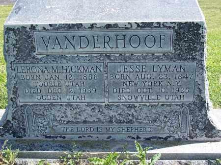 VANDERHOOF, JESSE LYMAN - Box Elder County, Utah | JESSE LYMAN VANDERHOOF - Utah Gravestone Photos