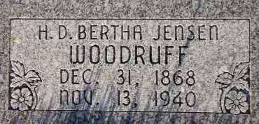 JENSEN WOODRUFF, HANSINE DORTHEA BERTHA - Box Elder County, Utah   HANSINE DORTHEA BERTHA JENSEN WOODRUFF - Utah Gravestone Photos