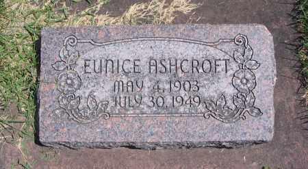 ASHCROFT, EUNICE - Cache County, Utah | EUNICE ASHCROFT - Utah Gravestone Photos