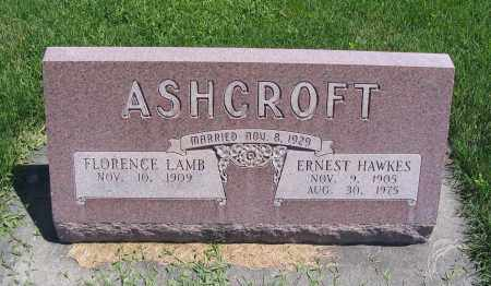 ASHCROFT, FLORENCE - Cache County, Utah   FLORENCE ASHCROFT - Utah Gravestone Photos