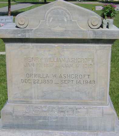 ASHCROFT, HENRY WILLIAM - Cache County, Utah | HENRY WILLIAM ASHCROFT - Utah Gravestone Photos