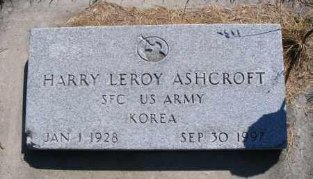 ASHCROFT, HARRY LEROY - Cache County, Utah | HARRY LEROY ASHCROFT - Utah Gravestone Photos