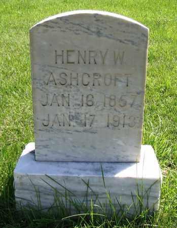 ASHCROFT, HENRY W. - Cache County, Utah | HENRY W. ASHCROFT - Utah Gravestone Photos