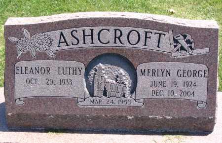 ASHCROFT, MERLYN GEORGE - Cache County, Utah | MERLYN GEORGE ASHCROFT - Utah Gravestone Photos