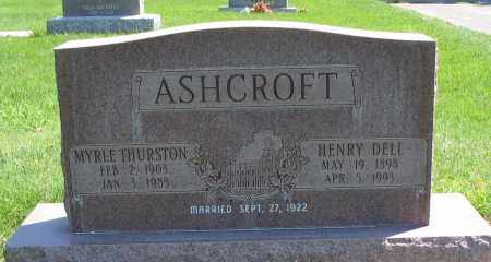 ASHCROFT, MYRLE - Cache County, Utah | MYRLE ASHCROFT - Utah Gravestone Photos