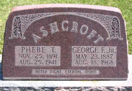 ASHCROFT, GEORGE F. JR. - Cache County, Utah   GEORGE F. JR. ASHCROFT - Utah Gravestone Photos