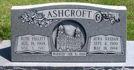 ASHCROFT, AURA NATHAN - Cache County, Utah | AURA NATHAN ASHCROFT - Utah Gravestone Photos