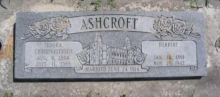 ASHCROFT, HERBERT - Cache County, Utah | HERBERT ASHCROFT - Utah Gravestone Photos