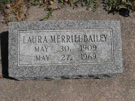 MERRILL BAILEY, LAURA - Cache County, Utah | LAURA MERRILL BAILEY - Utah Gravestone Photos