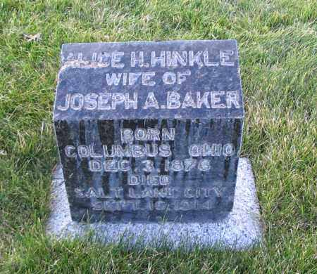BAKER, ALICE H. - Cache County, Utah | ALICE H. BAKER - Utah Gravestone Photos
