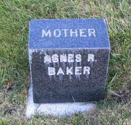 BAKER, AGNES R. - Cache County, Utah   AGNES R. BAKER - Utah Gravestone Photos