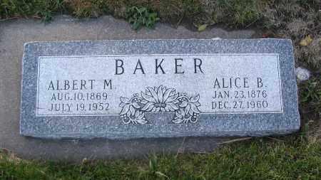 BAKER, ALICE B. - Cache County, Utah | ALICE B. BAKER - Utah Gravestone Photos