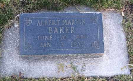BAKER, ALBERT MARVIN - Cache County, Utah | ALBERT MARVIN BAKER - Utah Gravestone Photos