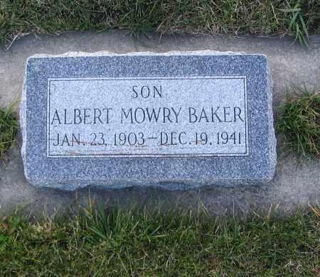 BAKER, ALBERT MOWRY - Cache County, Utah | ALBERT MOWRY BAKER - Utah Gravestone Photos