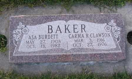 BAKER, CARMA R. - Cache County, Utah | CARMA R. BAKER - Utah Gravestone Photos