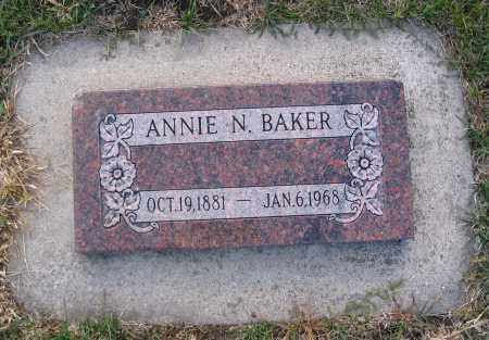 BAKER, ANNIE N. - Cache County, Utah   ANNIE N. BAKER - Utah Gravestone Photos