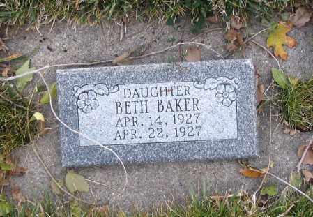 BAKER, BETH - Cache County, Utah   BETH BAKER - Utah Gravestone Photos