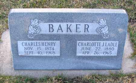 BAKER, CHARLOTTE J. - Cache County, Utah | CHARLOTTE J. BAKER - Utah Gravestone Photos