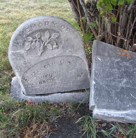 BAKER, ELIZABETH ORILLA - Cache County, Utah | ELIZABETH ORILLA BAKER - Utah Gravestone Photos