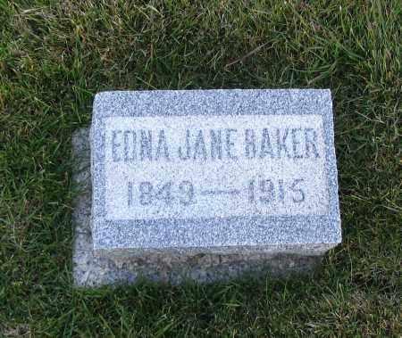 BAKER, EDNA JANE - Cache County, Utah | EDNA JANE BAKER - Utah Gravestone Photos
