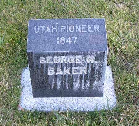 BAKER, GEORGE W. - Cache County, Utah   GEORGE W. BAKER - Utah Gravestone Photos