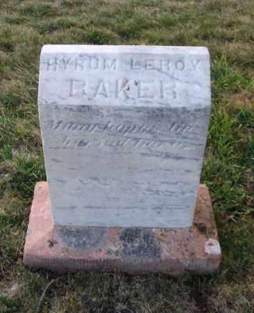 BAKER, HYRUM LEROY - Cache County, Utah   HYRUM LEROY BAKER - Utah Gravestone Photos