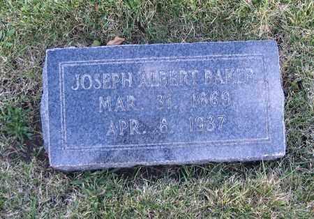 BAKER, JOSEPH ALBERT - Cache County, Utah | JOSEPH ALBERT BAKER - Utah Gravestone Photos