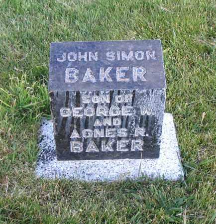 BAKER, JOHN SIMON - Cache County, Utah | JOHN SIMON BAKER - Utah Gravestone Photos