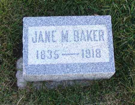 BAKER, JANE M. - Cache County, Utah | JANE M. BAKER - Utah Gravestone Photos