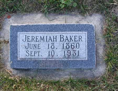 BAKER, JEREMIAH - Cache County, Utah | JEREMIAH BAKER - Utah Gravestone Photos