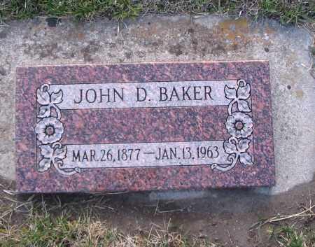 BAKER, JOHN D. - Cache County, Utah | JOHN D. BAKER - Utah Gravestone Photos