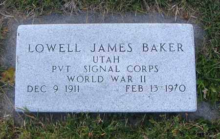 BAKER, LOWELL JAMES - Cache County, Utah | LOWELL JAMES BAKER - Utah Gravestone Photos