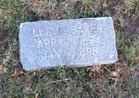 BAKER, LESLIE - Cache County, Utah   LESLIE BAKER - Utah Gravestone Photos