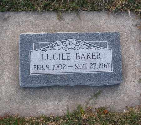 BAKER, LUCILE - Cache County, Utah | LUCILE BAKER - Utah Gravestone Photos