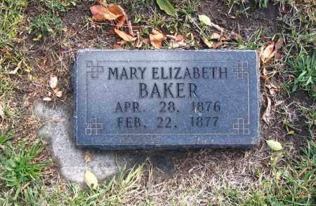 BAKER, MARY ELIZABETH - Cache County, Utah | MARY ELIZABETH BAKER - Utah Gravestone Photos