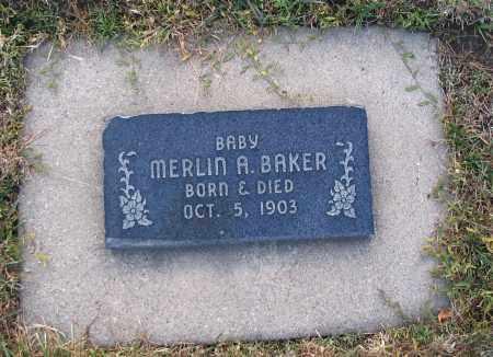 BAKER, MERLIN A. - Cache County, Utah | MERLIN A. BAKER - Utah Gravestone Photos