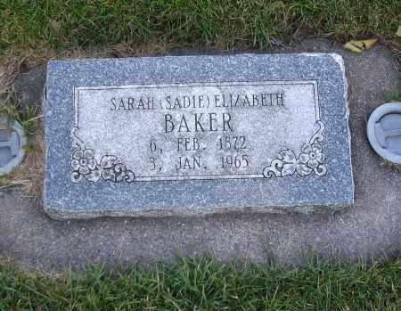 BAKER, SARAH ELIZABETH (SADIE) - Cache County, Utah | SARAH ELIZABETH (SADIE) BAKER - Utah Gravestone Photos