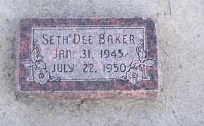 BAKER, SETH DEE - Cache County, Utah   SETH DEE BAKER - Utah Gravestone Photos