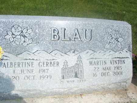 GERBER BLAU, ALBERTINE - Cache County, Utah | ALBERTINE GERBER BLAU - Utah Gravestone Photos