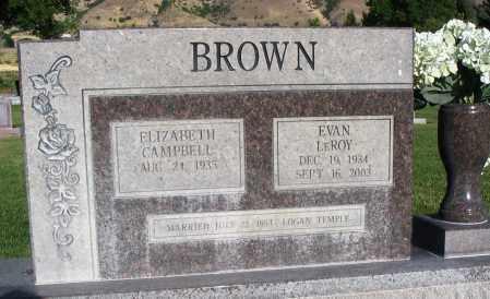 CAMPBELL, ELIZABETH - Cache County, Utah   ELIZABETH CAMPBELL - Utah Gravestone Photos