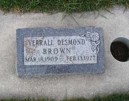 BROWN, VERRALL DESMOND - Cache County, Utah | VERRALL DESMOND BROWN - Utah Gravestone Photos