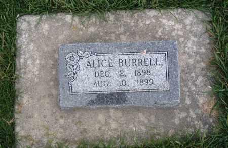 BURRELL, ALICE - Cache County, Utah | ALICE BURRELL - Utah Gravestone Photos