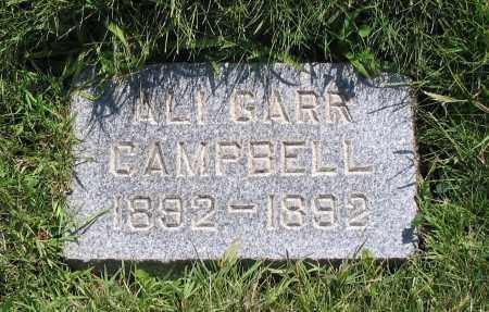 CAMPBELL, ALI GARR - Cache County, Utah | ALI GARR CAMPBELL - Utah Gravestone Photos