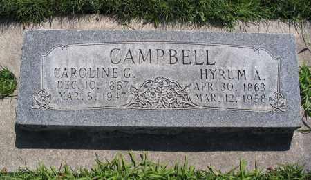 CAMPBELL, CAROLINE - Cache County, Utah   CAROLINE CAMPBELL - Utah Gravestone Photos