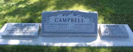 CAMPBELL, ELIZABETH - Cache County, Utah | ELIZABETH CAMPBELL - Utah Gravestone Photos