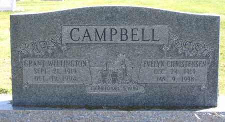 CAMPBELL, GRANT WELLINGTON - Cache County, Utah | GRANT WELLINGTON CAMPBELL - Utah Gravestone Photos
