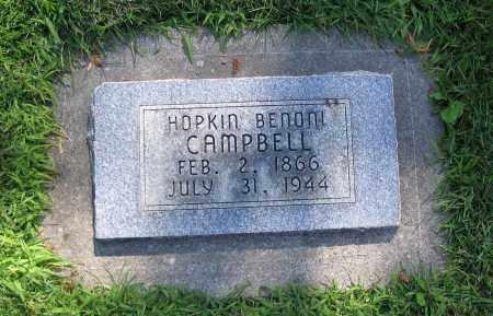 CAMPBELL, HOPKIN BENONI - Cache County, Utah | HOPKIN BENONI CAMPBELL - Utah Gravestone Photos