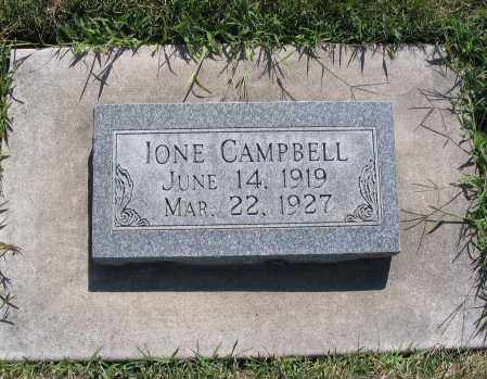 CAMPBELL, IONE - Cache County, Utah | IONE CAMPBELL - Utah Gravestone Photos