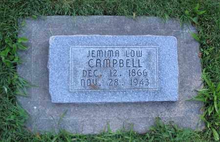 CAMPBELL, JEMIMA - Cache County, Utah   JEMIMA CAMPBELL - Utah Gravestone Photos